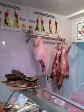 Butcher in Croatia